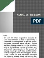 Aguas vs de Leon