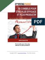 55 Conseils Pour Etre Plus Efficace Et Plus Productif(1)