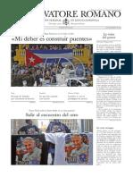 L ´OSSERVATORE ROMANO - 25 Septiembre 2015