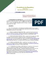 Decreto de 26 de Novembro de 2001.