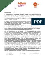 Lettre CGT-SNUI-CFDT Élus La Guerche