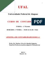Apostila de Contabilidade Básica 1 - Alunos - Contabilidade - 2013-2