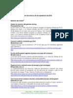 Boletín de Noticias KLR 25SEP2015