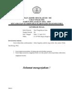 Ujian Akhir Sekolah Sd Ipa 2015
