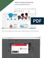 Pantallazos Plataforma de Gestion Educativa
