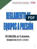 Resumen reglamento equipos de presión