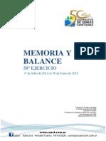 Memoria y Balance 50