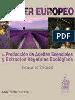 Máster Europeo en Produccion de Aceites Esenciales y Extractos Vegetales Ecologicos Semipresencial 1
