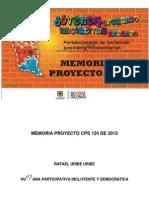 Memoria Proyecto Cps 124 13 de Enero de 2015