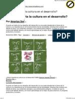 ¿Cómo Importa La Cultura en El Desarrollo
