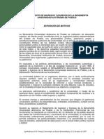 Reglamento de Ingresos y Egresos