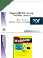 Advanced HFSS Training the Field Calculator