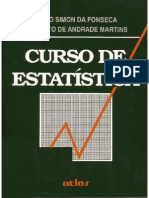 Curso de Estatística - Fonseca e Martins