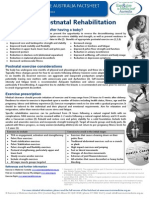 2014 Postnatal Rehabilitation BRIEF