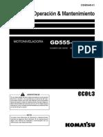 KOMATSU® GD555-5 Service Manual