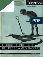 Cuadernilllo El Curioso Incidente Del Perro a Medianoche Teatro Uc