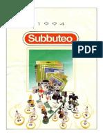 Catalogo Subbuteo 1994
