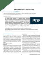 Antimicrobial Therapeutics in Critical Care