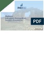 Boletin de Indicadores Demograficos, Sociales y Economicos_HUÁNUCO