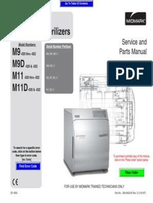 Autoclave - Midmark - M11 - Manual de Servicio y Partes | Thermostat |  TroubleshootingScribd