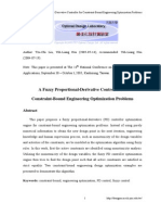 A Fuzzy Proportional-Derivative Controller for Constraint-Bound Engineering Optimization Problems