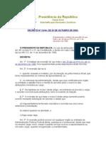 Decreto No 3.644, De 30 de Outubro de 2000.