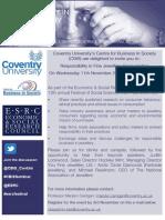 CBiS ESRC Festival Seminar