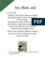eeu 220 alphabet math and poetry books