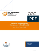 Corporate Governance and Management of Risk