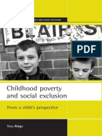 Tess Ridge Childhood Poverty and Social Exclusion _ From a Child's Perspective 2002