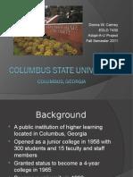 columbus state university donna carney