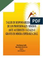 Minera Esperanza Agosto 2012
