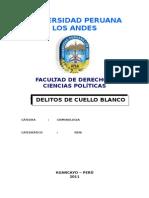 DELITO Monografia de Los Delitos de Cuello Blanco