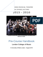 BA Musical Theatre & Acting Pre Course Info