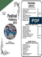 Programa Festival Folklórico