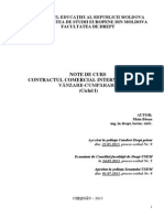 Contractul Comercial International de Vinzare-cumparare