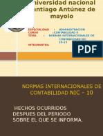 Universidad Nacional Santiago Antúnez de Mayolo Trabajo Completo Hecho de Contabilidad