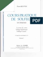 Cours Pratique de Solfège - Volume 1 - Pierre Boutin
