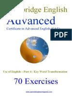 70 Cae Key Word Transformations