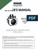 Kohler Owner's Manual K582