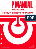 1986 - Honda HR194-HR214-HRA214 Service Manual - OCR 600dpi