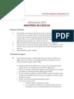 Admision 2015 Maestria 1