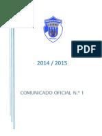 CO N.º 1 ÉPOCA 2014 2015_NORMAS E INSTRUÇÕES (1)