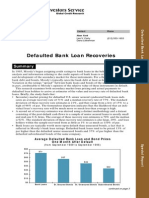 Defaulted Bank Loan Recoveries