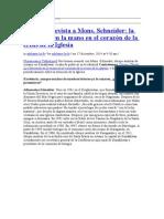 Nueva Entrevista a Mons Schnaider