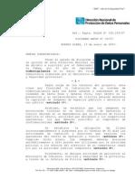 Dictamen DNPDP Nº 29-07