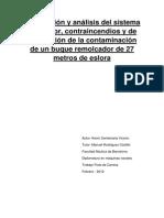 Descripción y Análisis Del Sistema Propulsor, CI y Prev Contaminacion de 1 Remolcador de 25 m de Eslora