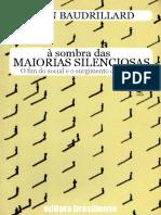 A Sombra Das Maiorias Silencios - Jean Baudrillard
