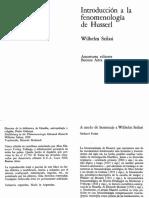 Introduccion a La Fenomenologia de Husserl