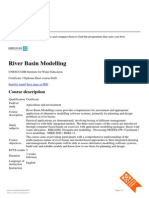 River Basin Modeling-Short Course